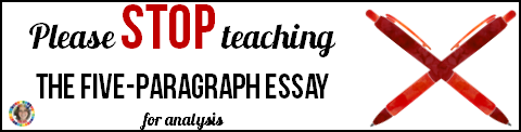 Please Stop Teaching The Fiveparagraph Essay For Analysis  The  December   January   Rhetorstoolbox Ap Language And  Composition Essay Teaching